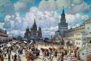 Красная площадь во второй половине XVII века. Картина А. Васнецова